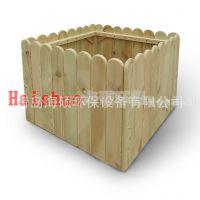 山东户外实木花箱组合花盆木花槽|木质花盆容器市政花箱
