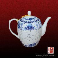 青花玲珑茶具 手绘青花玲珑茶具