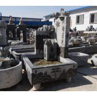 青石仿古做旧 创意流水石雕 花盆 庭院雕塑装饰摆件养鱼缸