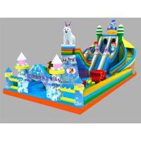 冰雪世界充气城堡,儿童充气滑梯,为你提供专属赚钱机器