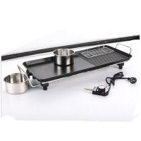 无烟烧烤炉 韩式电烤炉 家用/商用铁板电烧烤盘 不沾烤肉锅