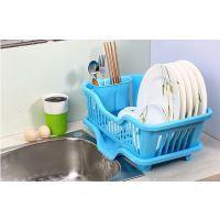 供应厨房置物架 塑料加厚滴水碗碟收纳架 滤水沥水碗架 一件代发