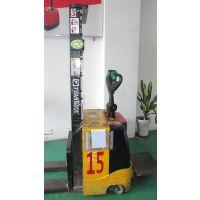 广东周边低价租售二手1.5T3米全电动托盘堆垛车