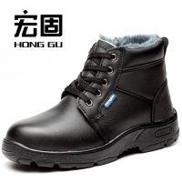 宏固024款 现货 冬季劳保鞋 棉安全鞋 保暖 防砸 防刺 耐油 耐酸碱 耐磨厂家