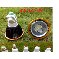 LED PAR20灯杯 双环射灯调光帕灯E27螺口GU10MR16插针E14小螺口3W5W黑色金圈