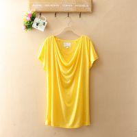 外贸原单  夏季新款女装T恤  短袖韩版打底衫 糖果色多色T恤S9