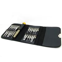 25PCS精密起子组手表精修套装皮套便携式工具
