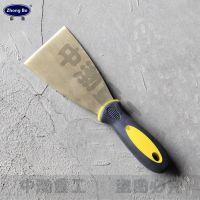 厂家生产中渤牌铜质防爆塑柄油灰刀,8寸防爆除锈刀