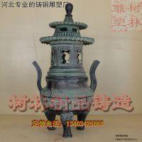 厂家直销 纯铜做旧铜鼎香炉 铜香炉 仿大明宣德年制摆件厂家包邮