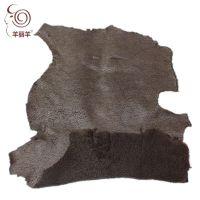 【羊丽羊】厂家批发羊剪绒 羊毛卷花 真皮面料 羊皮革 皮毛一体