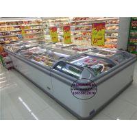 多台组合直冷岛柜 巢湖海鲜超市冷冻展示柜 酒店海鲜水产低温冷藏柜