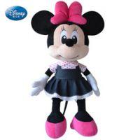 迪士尼正品牛仔米老鼠毛绒玩具 米妮公仔儿童米奇娃娃 可来图来样