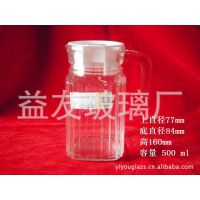 供应 容量500ml 玻璃条子壶 玻璃容器