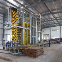 供应国森专利-利用速生木压制高密度重组材重竹地板设备
