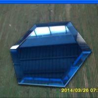 蓝镜/斜边镜/六边形镜磨斜边/镜子加工/磨斜边玻璃/蓝镜玻璃厂家