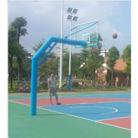 地埋圆管篮球架尺寸预埋多少厂家为您解答220管埋地式透明板篮球架