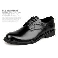 新款商务正装皮鞋男士英伦欧版皮鞋透气鞋布洛克雕花男鞋休闲鞋