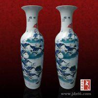 简约现代时尚陶瓷落地大花瓶礼品 家居装饰品大花瓶礼品