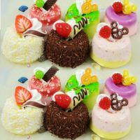 PU小蛋糕模型 戚风柔情系列水果蛋糕摆设样品 梯形蛋糕 创意挂件