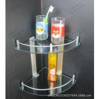 太空铝角架 单玻璃架带杆卫生间墙角架浴室置物架 卫生间置物架