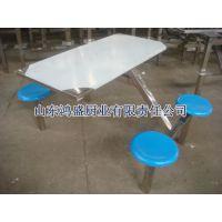 不锈钢条凳连体餐桌椅供应山东厂家