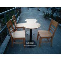 供应静安星巴克实木桌椅(上海咖啡厅桌椅厂家)