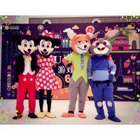 上海服装出租卡通人偶服装疯狂动物城朱迪与尼克闪电求婚服装行走人偶服装租赁