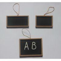 供应木制套三方形带金线挂绳可写粉笔小黑板 木制挂件
