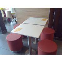 供应麦当劳风格餐厅餐桌椅 麦当劳快餐桌椅 广州麦当劳餐厅桌椅生产厂家