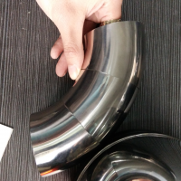 304/316L 不锈钢卫生级 3A 30度焊接(加长)弯头 天目 30度弯头