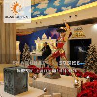 【上海升美】圣斗士星矢酷炫玻璃钢雕塑 动漫超人定制 展览