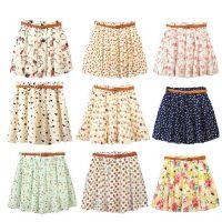 供应十三行批发市场供应时尚碎花迷你短裙批发工厂货源小短裙