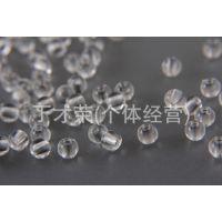 厂家直销批发透明塑料亚克力6mm圆珠地球珠DIY仿水晶散珠串珠