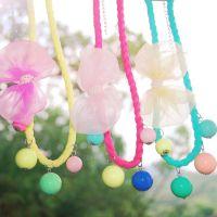 儿童节特供韩版儿童饰品女童糖果色彩珠配饰韩国小孩可爱项链批发