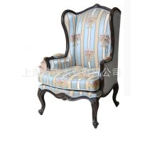 美式实木椅子法式田园客厅沙发椅样板房别墅家具特价定制书椅