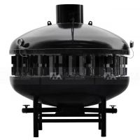 志铭实业大型无烟炭火烤鱼炉,圆形烤鱼炉设备