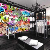 量贩式主题KTV壁画墙纸定制 餐厅涂鸦壁画 客厅3D立体墙画