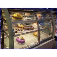 自助烧烤店甜品展示柜台 韩式烤肉保鲜冷藏柜 淮南前开门弧形蛋糕柜