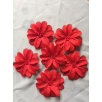 点钻五瓣花,毛绒布料压花,提供来料加工