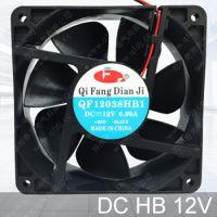 QFDJ/奇芳电机供应12cm机柜散热风机 DC12038HBL双滚珠轴承 纯铜线电机轴流式风扇