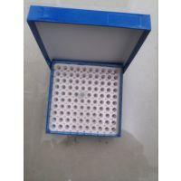 冻存盒 绿冻纸质冻存盒 翻盖式 0.5ml离心管 厂家直销