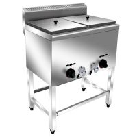 汇利双缸双筛燃气炸炉(落地式)HY-74电炸锅油炸炉单缸商用炸薯