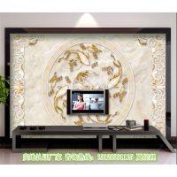 彩雕电视背景墙UV平板打印机