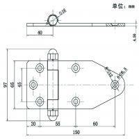 凯陆 不锈钢合页 铰链 重型合页 工业门合页 可拆卸铰链 4.5mm加厚
