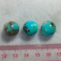 纯天然绿松石生料圆珠散珠配珠14MM 无优化无染色无加胶 以克计价