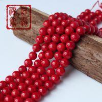 仿红珊瑚散珠 深海红珊瑚串珠材料批发 精美加工 永不掉色