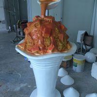 冰淇淋、玻璃钢卡通雕塑 动漫公仔造型雕塑 广场摆饰 定制