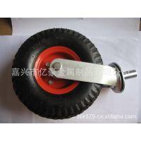 供应 10英寸 铁心橡胶实心 脚轮 万向轮