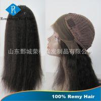 厂家直销 100%真人发丝 100%手织 前蕾丝头套 蕾丝假发 发套