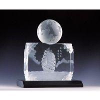 高档水晶内雕图像纪念摆件 开业周年庆内雕纪念品摆饰 创业十周年水晶内雕纪念品